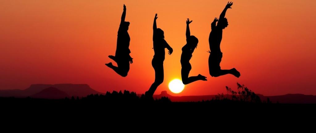 Teilnehmerquote BGM springende Menschen