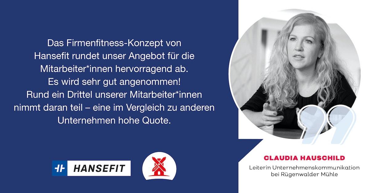 Firmenfitness mit Hansefit Aussage Rügenwalder