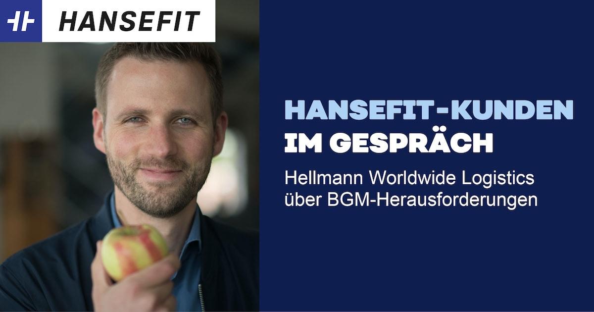 Interview Hellmann Logistics. Junger Mann mit Apfel in der Hand